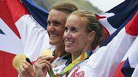 Helen Gloverová a Heather Stanningová obhájily triumf ve dvojce bez kormidelnice z her v Londýně.