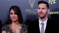 Lionel Messi a jeho manželka Antonella