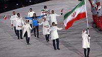 Íránská výprava při slavnostním zahájení ZOH 2018.