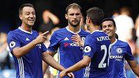 Radost fotbalistů Chelsea - ilustrační foto.