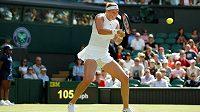 Česká tenistka Petra Kvitová v prvním kole Wimbledonu.