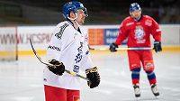 Radek Koblížek během tréninku hokejové reprezentace před turnajem Beijer Hockey Games.