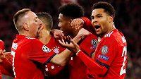 Radost z gólu v podání fotbalistů Bayernu Mnichov.