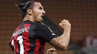 Gólová radost snajpra AC Milán Zlatana Ibrahimovice.