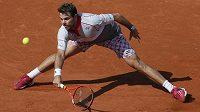 Stan Wawrinka, vítěz French Open, ve finálovém utkání.