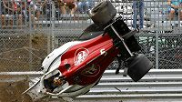 Druhý trénink F1 v Monze narušila ošklivá bouračka Marcuse Ericssona.
