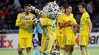 Fotbalisté Astany, kteří budou po reprezentační pauze třetím soupeřem Jablonce v základní skupině Evropské ligy, vyhráli ve 29. kole kazašské ligy 2:1 na hřišti Aktobe.