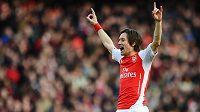 Zopakuje si Tomáš Rosický gólové oslavy i na Old Trafford?