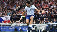 Na rozlučce Radka Štěpánka s tenisovou kariérou nemohl chybět ani skvělý showman Novak Djokovič.