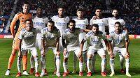 Fotbalisté Realu Madrid před ligovým utkáním proti Levante.
