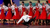 Kulturní program během losu fotbalového MS 2018 v koncertní síni Kremelského paláce v Moskvě.