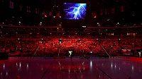 Slavnostní zahájení hokejového mistrovství světa v roce 2015 v pražské O2 areně.