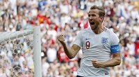 Anglický kapitán Harry Kane po svém druhém gólu proti Panamě.