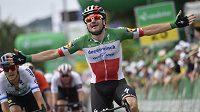 Italský cyklista Elia Viviani v závodě Kolem Švýcarska.