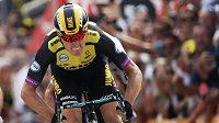 Nizozemec Mike Teunissen v cíli první etapy Tour de France.