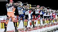 Světový pohár biatlonistů.