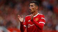 Cristiano Ronaldo už bojuje v Premier League v dresu Manchesteru United.