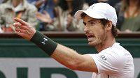 Britský tenista Andy Murray ve finále French Open.