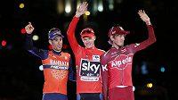 Italský cyklista Vincenzo Nibali (vlevo) se nezúčastní MS.
