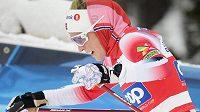 Norská hvězda světového běžeckého lyžování Therese Johaugová v akci.