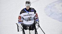 Brankář hokejových Karlových Varů Jan Bednář.