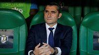 Kouč fotbalistů Barcelony Ernesto Valverde.