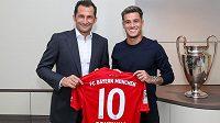 Brazilský fotbalista Philippe Coutinho definitivně zamířil z Barcelony na roční hostování s opcí do Bayernu Mnichov.