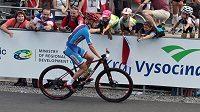 Českého bikera Richarda Holce postihly v závodě juniorů technické potíže s patkou přehazovačky.