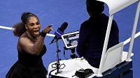 Serena Williamsová na ilustračním snímku z utkání US Open s Naomi Osakovou.