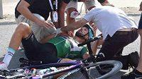 Zraněný Tom Boonen.