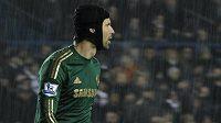 Petr Čech v brance Chelsea v utkání Ligového poháru s Leedsem