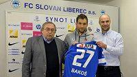 Marek Bakoš (uprostřed) by se měl v Liberci nejvíce podílet na střílení gólů.