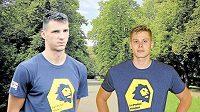 Volejbalisté oddílu Lvi Praha zahájili přípravu na sezonu. Nechybějí mezi nimi ani hvězdné posily Aleksandar Nedeljkovič (vlevo) a Stefan Skakič.