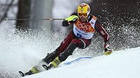 Chorvatský slalomář Ivica Kostelič při ZOH v Soči.