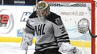 Český brankář Vítek Vaněček během Utkání hvězd AHL.