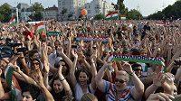 Přivítání maďarských fotbalistů v Budapešti