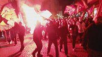 Fanoušci Sparty pochodovali Prahou.