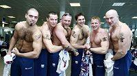Čeští bobisté před odletem do Vancouveru