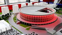 Takto má vypadat hokejová hala v Petrohradu. Bude největší na světě.
