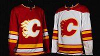 Dresy hokejistů Calgary pro sezonu 2020/21.