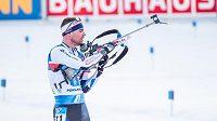 Michal Krčmář při štafetě v Pokljuce.