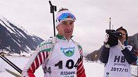 Bulharský biatlonista Krasimir Anev.