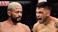 Brazilský šampion Deiveson Figueiredo (vlevo) a Američan Alex Perez, kdo bude po víkendu šampionem UFC.