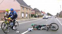 Rakouský cyklista Gregor Mühlberger upadl během závodu Kolem Flander