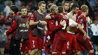 Smutek národního týmu po vyřazení ve čtvrtfinále EURO 2012 s Portugalskem.
