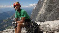 Radek Jaroš během léta nepohrdl přípravou na zajištěných cestách v Alpách.