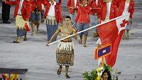 Pita Taufatofua v Riu.
