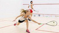 Česká squashová jednička Anna Serme se v Egyptě ukázala proti Faridě Mohamed, 34. nejlepší hráčce světa.