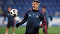 Záložník Bayernu Mnichova Bastian Schweinsteiger na tréninku před utkáním Ligy mistrů s Plzní.