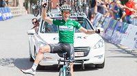 Cyklistický závod Vysočina - 4. etapa, okruhy v Bystřici nad Pernštejnem (85 km). Na snímku vítěz, francouzský cyklista Alexis Guerin.